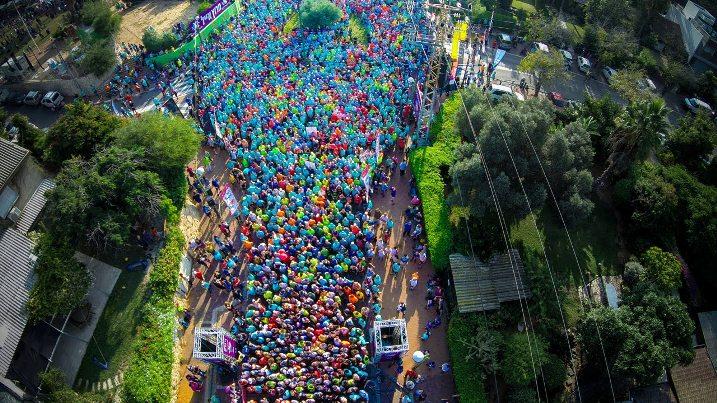 מבט מהאוויר על מרוץ אייל 2014