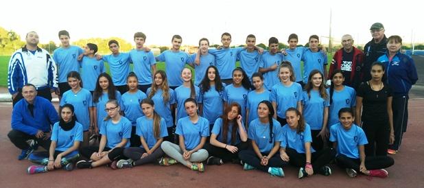 האתלטים הצעירים במחנה האימון בוינגייט