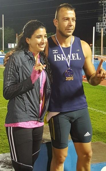 אלוף ישראל בקרב 10 - קונסטנטין קריניצקי - ואלופת ישראל בקרב 7 - ג'ומעאן ג'וברן