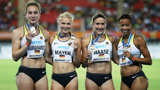 נבחרת השליחות הגרמנית (צילום באדיבות IAAF)