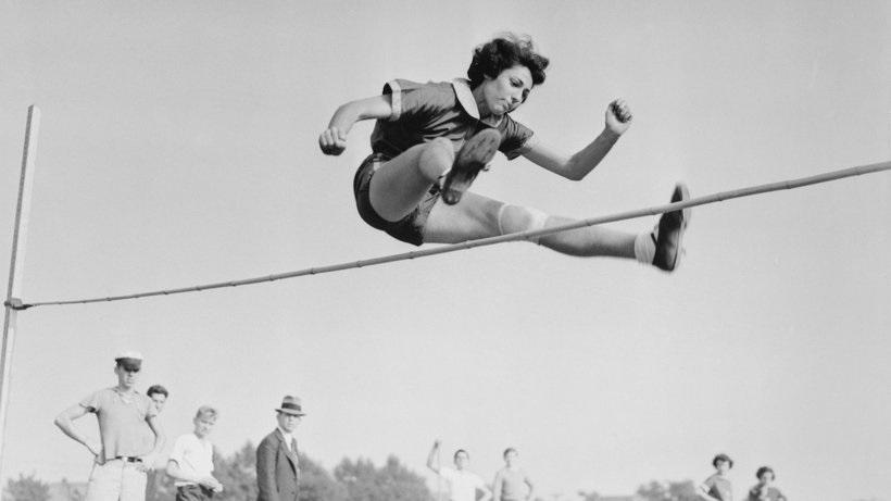 גרטל ברגמן בתקופה בה קבעה שיאים גרמניים